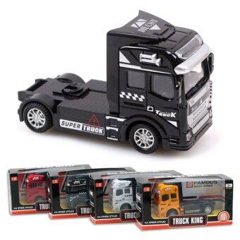 Container Truck Alloy Plastic Toy Model Cars Children's Gift