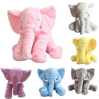 Cuddly Baby Kid Long Nose Elephant Animal Doll Soft Stuffed ToysPillow (Blue/40CM) - 5