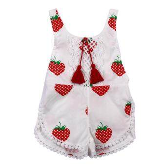Harga Cute Baby Girls Romper Clothes Summer Sleeveless Floral PrintedJumpsuit