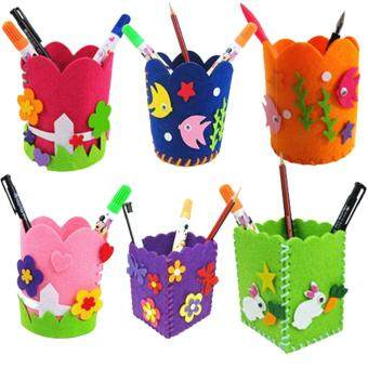 Harga Cute Creative Handmade Pen Container DIY Pencil Holder Kids CraftToy Kits