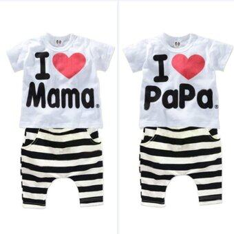 Cute Unisex Newborn Infant Baby Kid Boys Girls Clothing T-shirt +Pants Outfits Sets Randomly Sent