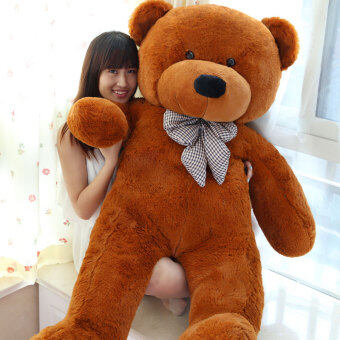 Harga Dark Brown Stuffed Animal Teddy Bear Plush Soft Toy 160CM Huge SoftToy