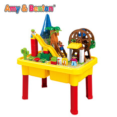 Dinosaur Puzzle Multi Function Large Particles Building Blocks Table Game  Table