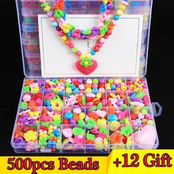 DIY Acrylic Beads Kids Beads DIY Set Accessories For Children Girl Kids Jewelry Making Necklace Bracelet