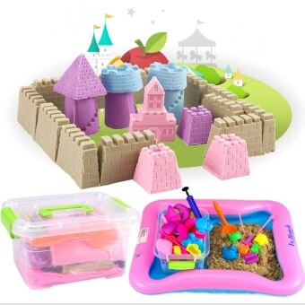 DIY Kinetic Space Sand With Colors (2kg) Theme Wooden Toy Building Blocks Puzzle milk lego rc games bricks (Sand)