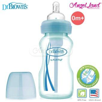 Harga Dr Brown?s Wide Neck ?OPTIONS? 270ml Single Bottle Level 1 SiliconeNipple 0m+ - Blue (30668)