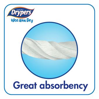 Drypers Wee Wee Dry M52 x 4packs (208 pcs) - 5