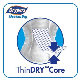 Drypers Wee Wee Dry M52 x 4packs (208 pcs) - 4