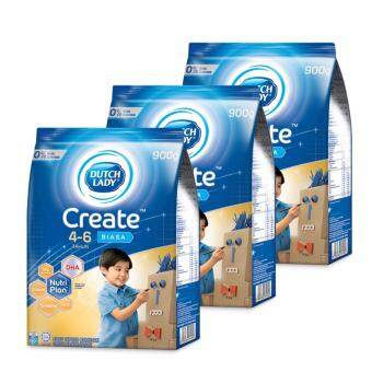 Dutch Lady Create 4-6 (Original) Milk Powder 900g (3 packs)