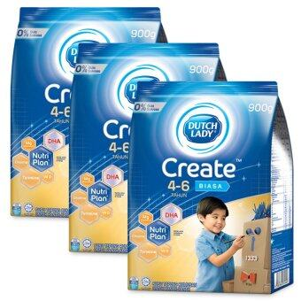 Dutch Lady Create (4-6 Years) 900g Original (3 packs)