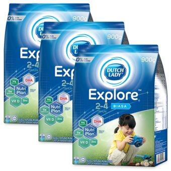 Dutch Lady Explore (2-4 Years) 900g Original (3 packs)