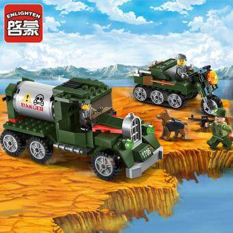 ENLIGHTEN new military series educational tank building blocks