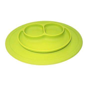 EsoGoal Baby Silicone Placemat Suction Plates One-Piece Feeding Dishes Bowl Oval Shape - 3