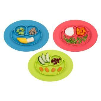EsoGoal Baby Silicone Placemat Suction Plates One-Piece Feeding Dishes Bowl Oval Shape - 4
