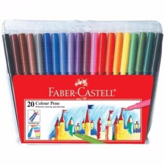 Harga Faber-Castell Fibre Tip Colour Pens 154320 - 20pc (Item No: A02-29)A1R1B159