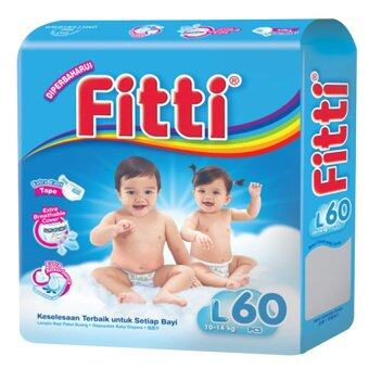 FITTI Tape Diaper Jumbo Pack L60