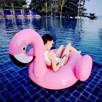 Flamingo PVC summer inflatable floating row