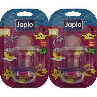 Harga [Free Shipping] JAPLO BABY SOOTHER (NIGHT GLOW) TWINKLE STAR NEW BORN 0-3months TS26 X2UNITS