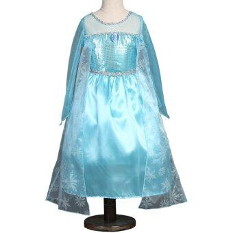 Harga Girls Dress Elsa Anna Princess Dress With Crown Custom Cosplay