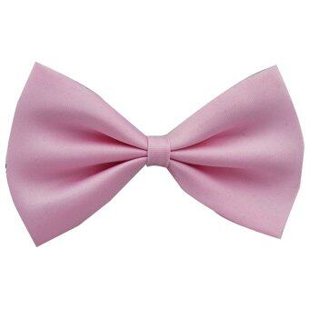 Gracefulvara Baby Boy Kids Child Infant Solid Color Wedding TuxedoBowties Bow Tie Fashion Neckwear (Light Pink)