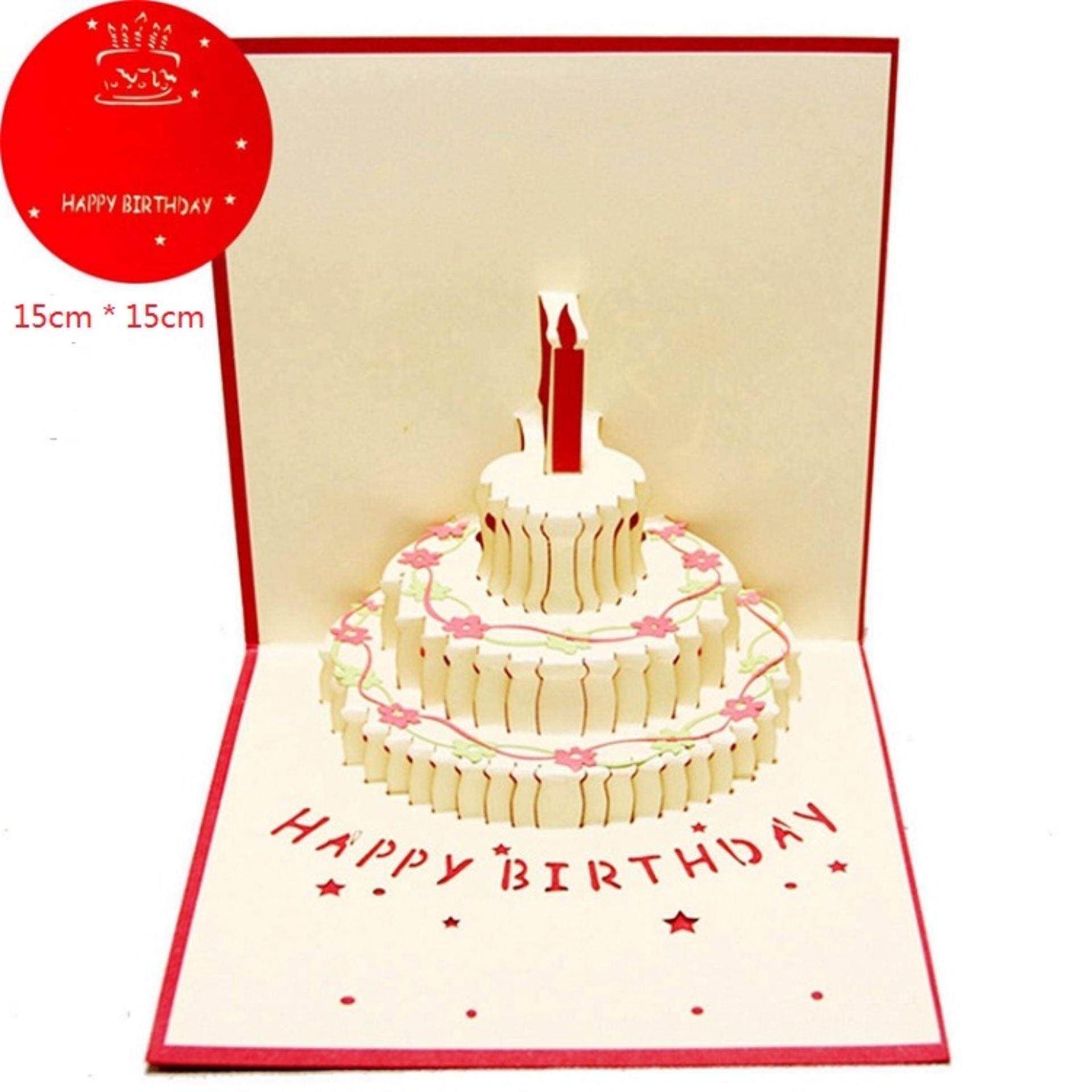 Happy Birthday Cake Wishing Card 3D Lazada Malaysia