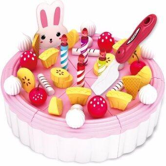 Happy Crc Kitchen Birthday CAKE PlaySet Children Portable Toy PlaySet Educational Toys Kids babies (Strawberry Cake)