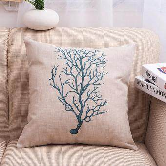 Small Coral Throw Pillows : Sell HengSong Small Coral Cotton Linen Pillowcase Decorative Pillows Cover Case 45x45CM(Creamy ...