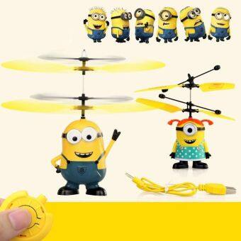 Harga HOT Despicable ME Flying Minion Sensor +Remote Control RCHelicopter Toys