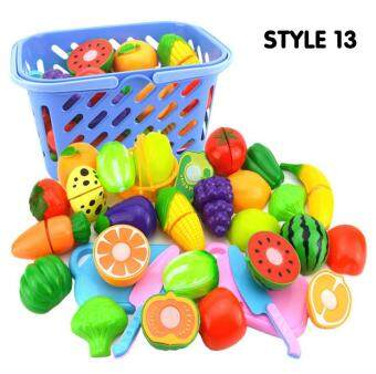 HOT Kitchen Toy Baby Plastic Colorful Cut Fruit Pretend Play HouseEducational Toys-Fruit 4PCs/set