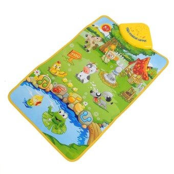 Harga Hot Sale Musical Music Sound Singing Farm Animal Farmery ChildPlaying Play Blanket Mat Carpet Playmat