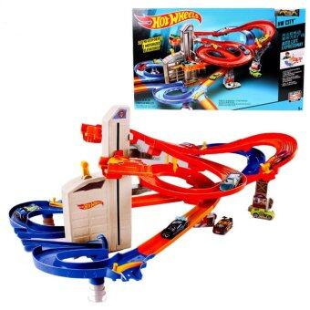 Harga Hot Wheels CDR08 Roundabout track toy kids toys Plastic metalminiatures scale cars track model CDR08 classic antique toy car