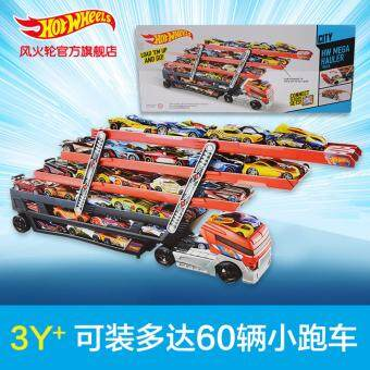 Hotwheels Heavy Truck CKC09 Toy Car Hold Truck Boys EducationalTruck Toys 6 Layer Scalable Parking Floor Truck Toys