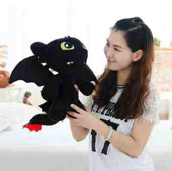 Harga How to Train Your Dragon 2 no toothless Aberdeen Night Fury plushtoy cloth doll to send girls day gift Valentine's Day