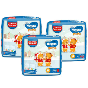 Harga Huggies Dry Pants M70+6 x 3 Limited Edition pack