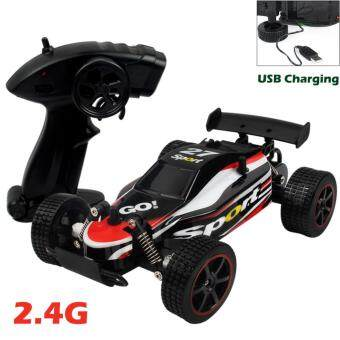 Harga 1:20 USB Charging Hign Speed 2.4Ghz Radio Remote Off-Road RC Car Vehicle for 6+ age(Red)