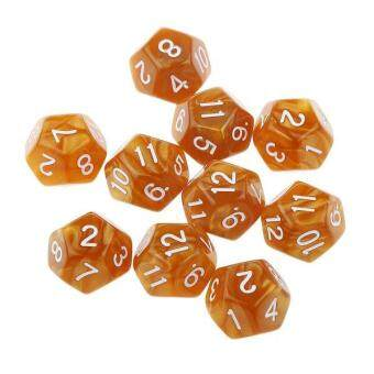 Harga BolehDeals 10pcs Twelve Sided Dice D12 Playing D&D RPG Party Games Dices Coffee