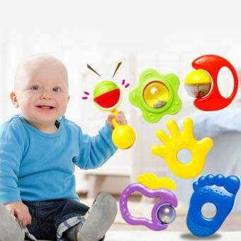 Harga 0-12 Months Baby Toy Baby Music Toy Rattles Develop Baby Intelligence Baby Toys Plastic Hand Shaking Bell Rattle