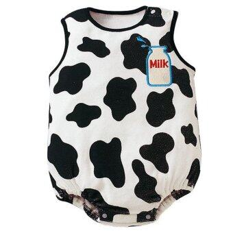 Harga Summer Cotton Sleeveless Baby Bodysuit Girl Boy Infant Newborn Clothing Bebe Rompers Jumpsuit - Cow