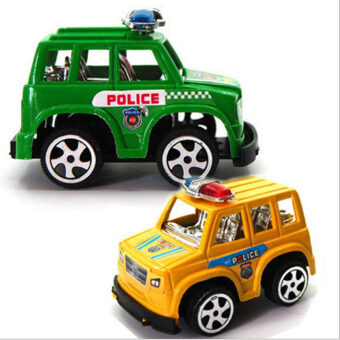 Harga IBERL 2pcs/set HOT Cute Mini Toy Cars Plastic Mini Police Car Model Christmas Birthday Gift Toys for Child Boys and Girls