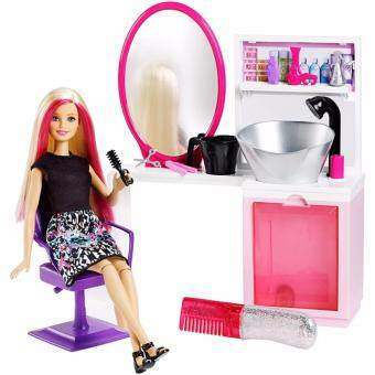 Harga Barbie® Sparkle Style Salon™ & Doll - Blonde