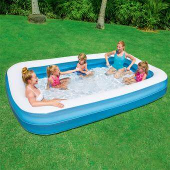 Harga Bestway 850 Litre Large Inflatable Rectangular Family Pool