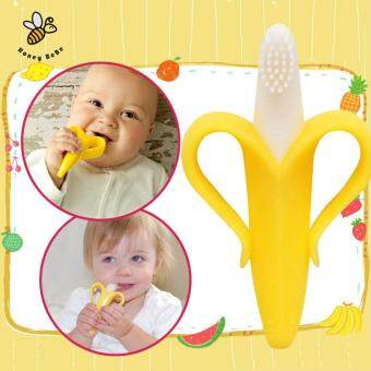 Harga Banana Teether Environmentally Safe Baby Silicone Toothbrush Baby Tooth Brush Training Children's Rattle