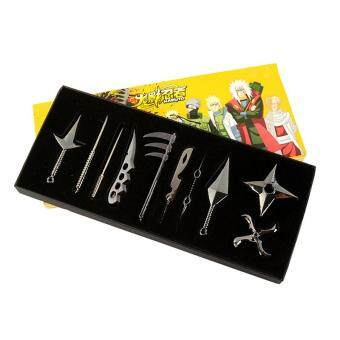 Harga Japan Anime Cartoon Toys Naruto Kunai Knife Throwing Set Ninja prop Hokage Ninjia Weapon Toys Ninja Knife 10pcs