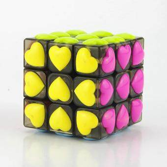 Harga Yj 3x3 Transparency Rubik's Cube Love Magic Cube