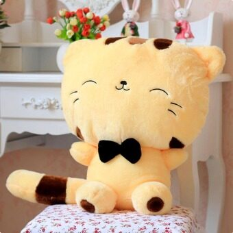 Harga Lovely Children Gift Plush Stuffed Toy Cute Fortune Cat(Yellow 45cm)
