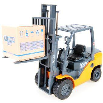 Harga KDW 1:20 Scale Diecast Forklift Truck Construction Vehicle Cars Model Toy Yellow