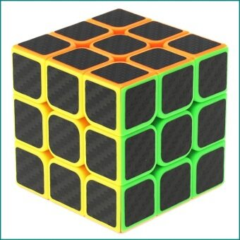 Harga Kids Magic Cube Rubik's Revenge 3X3 Cube Carbon Fiber