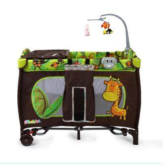 Harga F&F: Multifunctional Portable Colorful Animal Design Baby Bed
