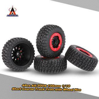 Harga 4Pcs AUSTAR AX-3009 High Performance 108mm 1/10 Short Course Truck Tires with Wheel Rim for All Terrain