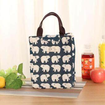 Harga Mummy Insulation Bag Children&Baby Food Thermal Character Bottle Thermos Baby Bottle Box Tote Bag Bear Pattern